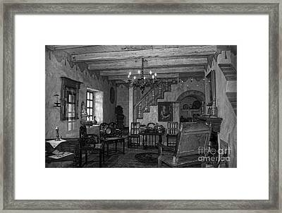 Living Room In Carmel Mission Framed Print by RicardMN Photography