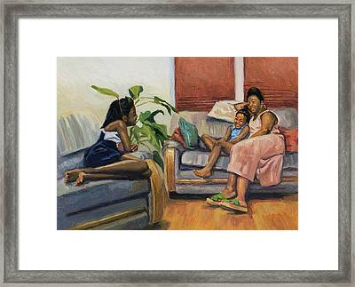 Living Room Lounge Framed Print by Colin Bootman