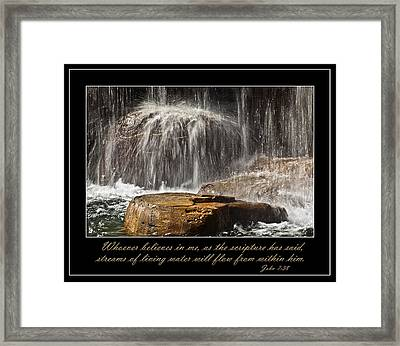 Living Water Framed Print by Carolyn Marshall
