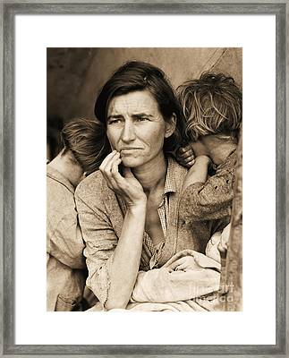 Living With Poverty Framed Print by Pg Reproductions