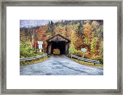 Livingston Manor Covered Bridge Framed Print by Deborah Benoit
