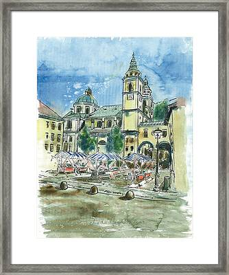 Ljubljana - The Cathedral Framed Print by Marko Jezernik