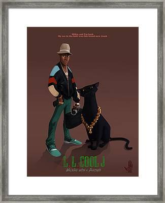 Ll Cool J Framed Print by Nelson Dedos Garcia