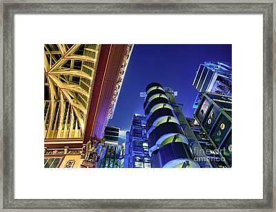 Lloyd's Of London And Leadenhall Market Framed Print by Rod McLean