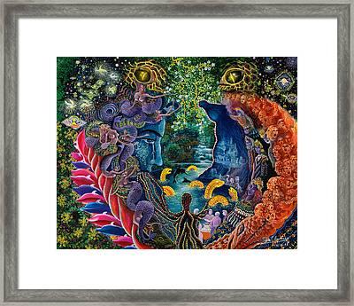 Llullon Llaki Supai Framed Print by Pablo Amaringo