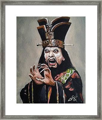 Lo Pan Framed Print by Tom Carlton
