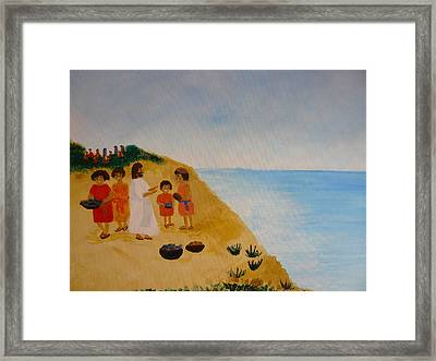 'loaves And Fishes' Framed Print by Barbara Unruh