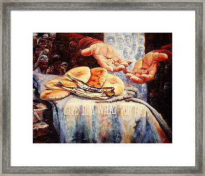 Loaves And Fishes Framed Print by Graham Braddock