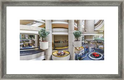 Lobby Of The Renaissance Center Framed Print by John McGraw