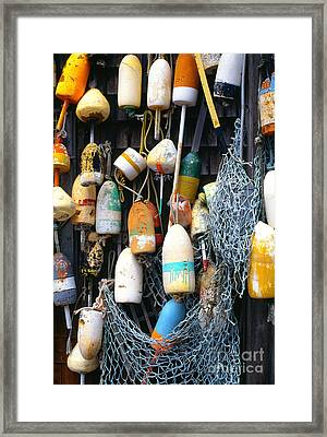 Lobster Buoys Fishermans Shed Framed Print by Thomas R Fletcher