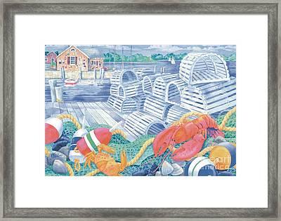 Lobster Dock Framed Print by Paul Brent