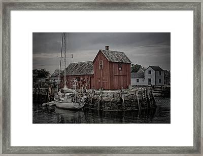 Lobster Shack - Rockport Framed Print by Stephen Stookey