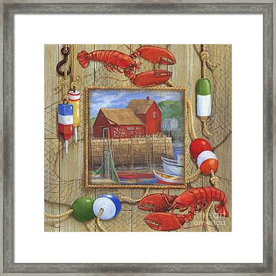 Lobster Shack Collage Framed Print by Paul Brent