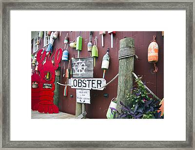Lobsters And Buoys Framed Print by Betsy C Knapp