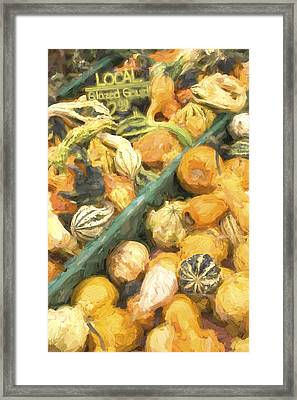 Local Glazed Gourds Painterly Effect Framed Print by Carol Leigh