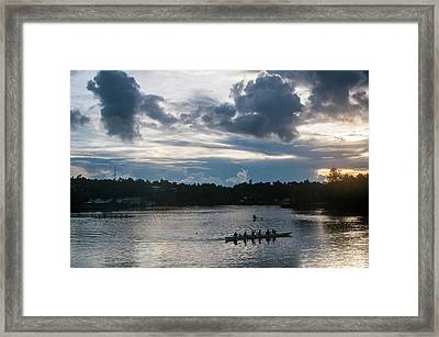Local People Training For The Rowing Framed Print by Michael Runkel