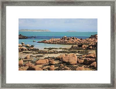 Located On The Northern Coast Framed Print by Mallorie Ostrowitz