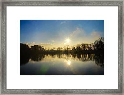 Loch Alsh At Sunrise - Ambler Pa Framed Print by Bill Cannon