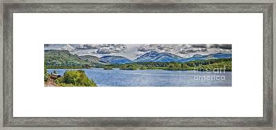 Loch Awe Panorama Framed Print by Antony McAulay