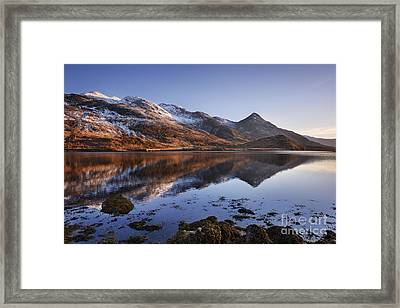 Loch Leven And The Pap Of Glencoe Framed Print by Rod McLean
