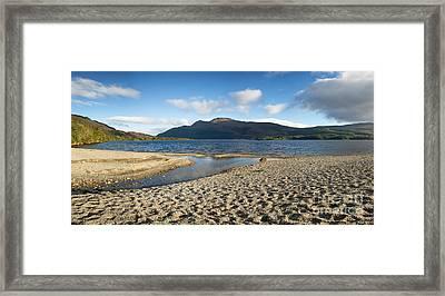 Loch Lomond Pano Framed Print by Jane Rix