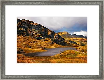 Loch Restil. Rest And Be Thankful. Scotland Framed Print by Jenny Rainbow
