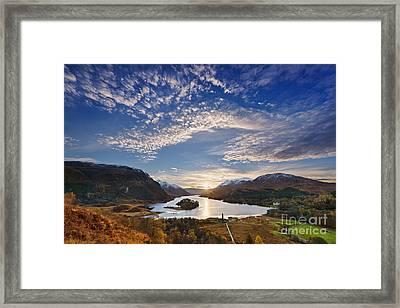 Loch Shiel Sunset Framed Print by Rod McLean