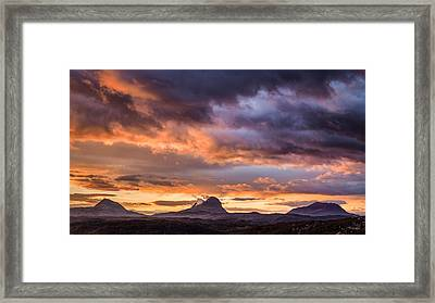 Lochinver Sunrise Framed Print by Dave Bowman
