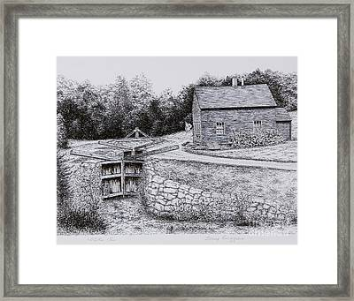 Lock 12 Framed Print by Tony Ruggiero