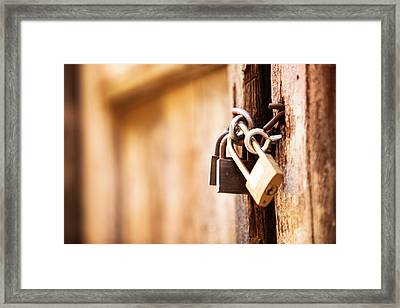 Lock Down Framed Print by Susan  Schmitz