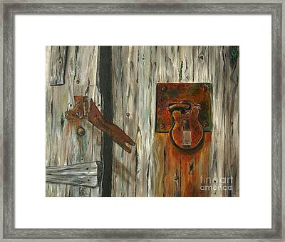 Lock Of Ages Framed Print by Anna-maria Dickinson