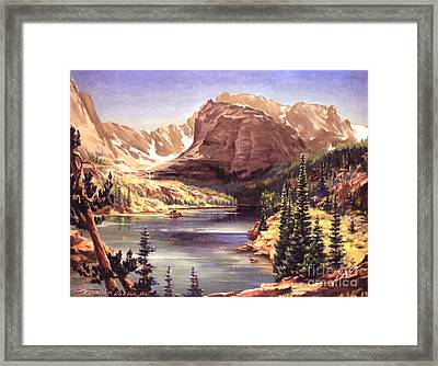 Lock Vale - Colorado Framed Print by Art By Tolpo Collection