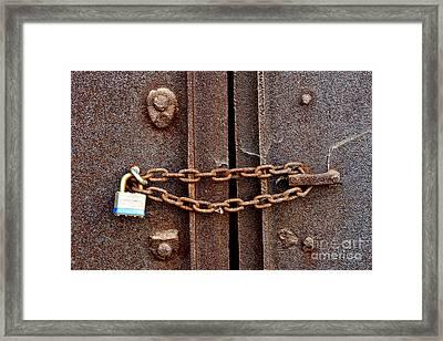 Locked Framed Print by Olivier Le Queinec