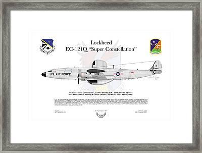 Lockheed Ec-121q Gold Diggers Framed Print by Arthur Eggers