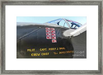 Lockheed P-38 - 162 Skidoo - 03 Framed Print by Gregory Dyer