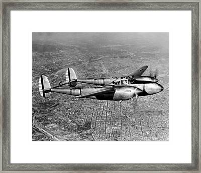 Lockheed P-38 Lightning Fighter Framed Print by Underwood Archives
