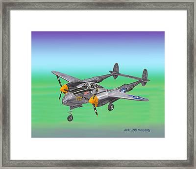 Lockheed P 38 Lightning Framed Print by Jack Pumphrey