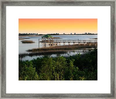 Lockwood Pier Framed Print by Joseph Tese