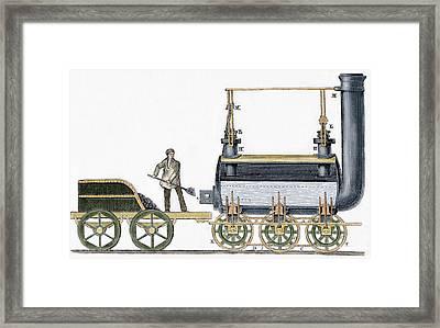 Locomotive Framed Print by George Stephenson