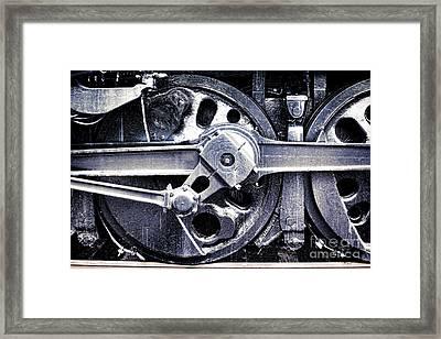 Locomotive Drive Wheels Framed Print by Olivier Le Queinec