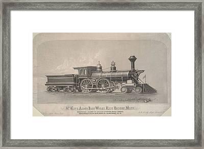 Locomotive Engines Framed Print by MotionAge Designs