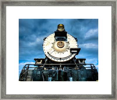 Locomotive Smile  Framed Print by Geoff Mckay