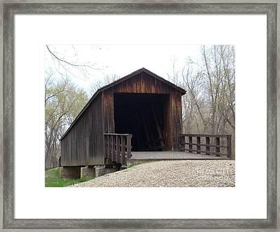 Locust Creek Covered Bridge Framed Print by Mark McReynolds