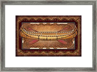 Lodge Canoe Framed Print by JQ Licensing