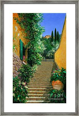 Lofty Hights - Oil Framed Print by Michael Swanson