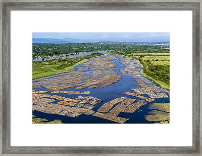 Log Booms, Canada Framed Print by Science Photo Library