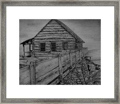Log Cabin Framed Print by Don Pritchett