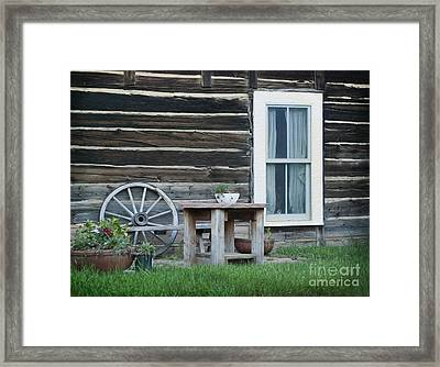 Log Cabin Framed Print by Juli Scalzi
