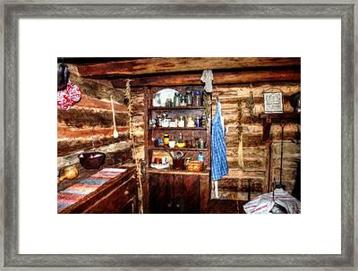 Log Cabin Living Room Framed Print by Doc Braham
