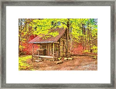 Log Cabin Renfro Valley Ky Framed Print by Anne Kitzman